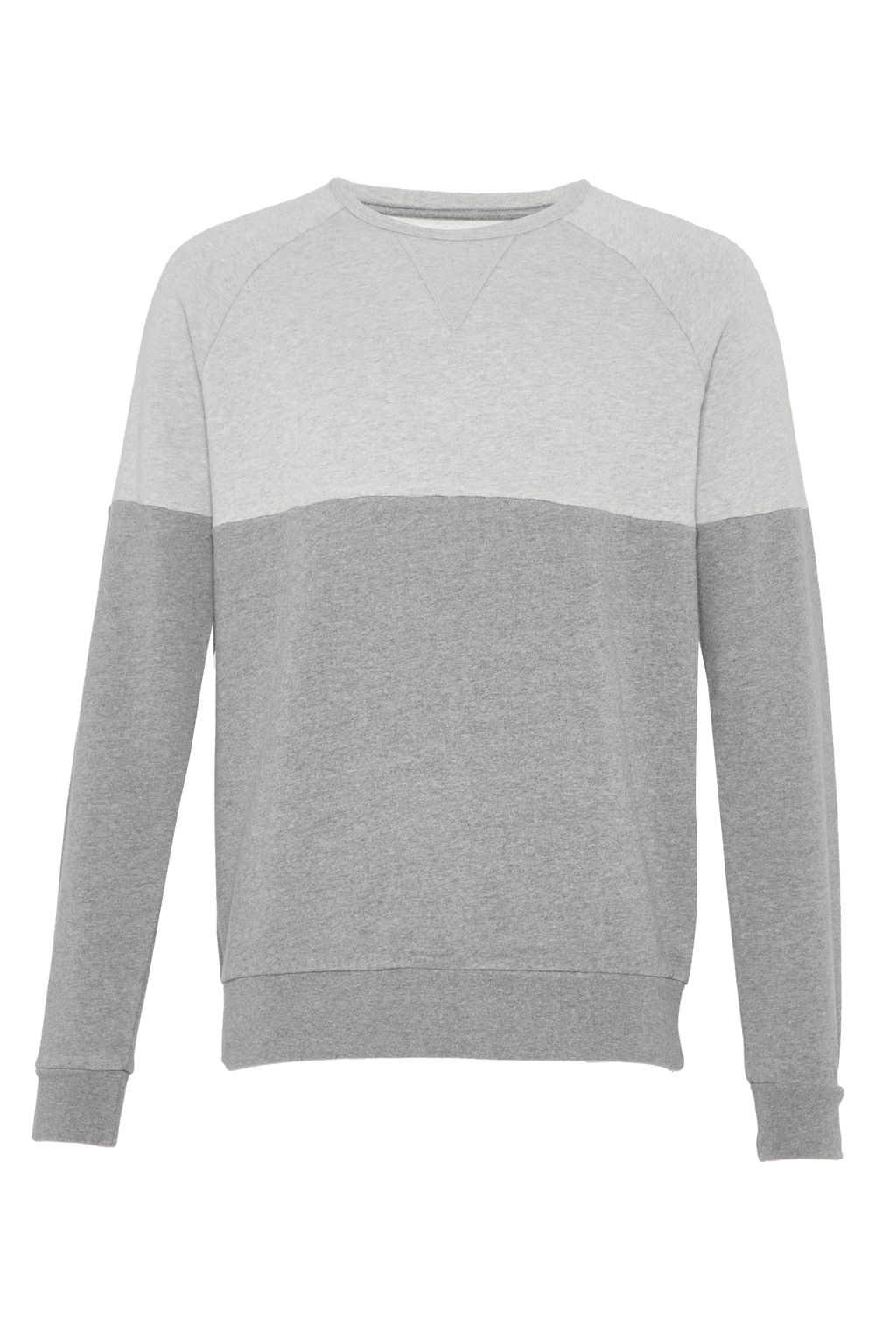 Men's French Connection Multi Melange Hoody Sweatshirt, Mid Grey Marl