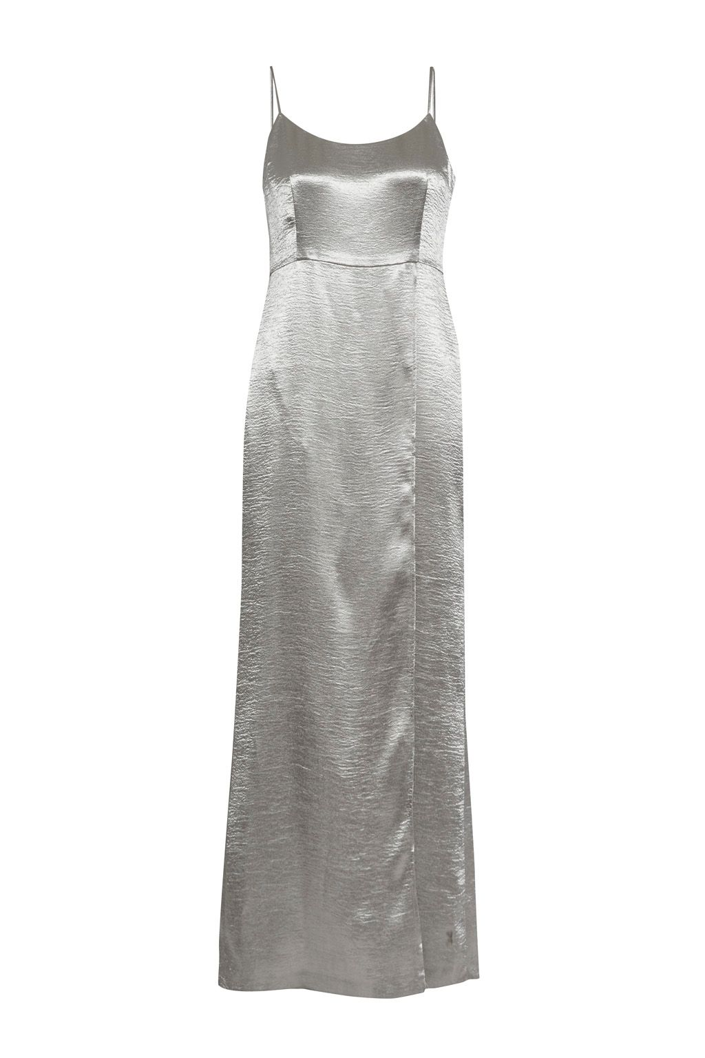 French Connection Kate Shine Strappy Maxi Dress, Grey