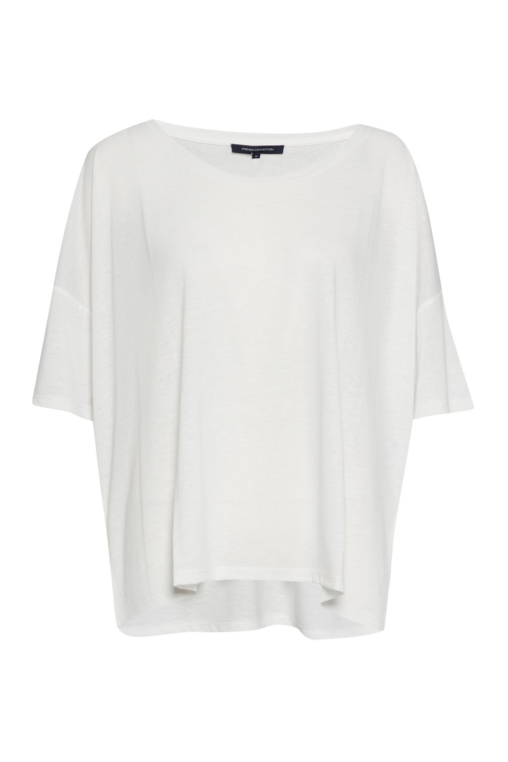 French Connection Hetty Marl Oversized Jersey T-Shirt, White