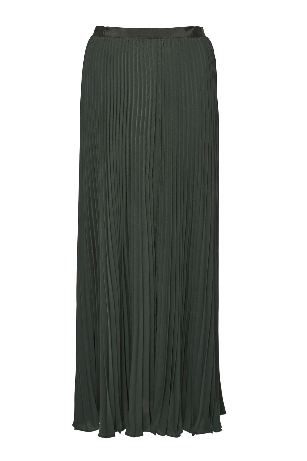 French Connection Classic Crepe Pleated Maxi Skirt, Green