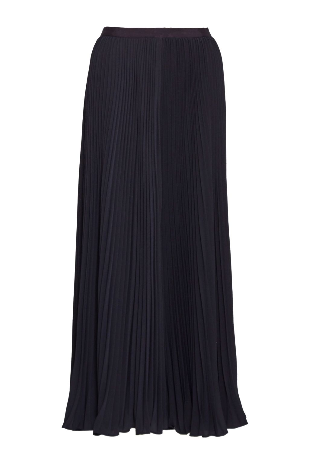 French Connection Classic Crepe Pleated Maxi Skirt, Blue