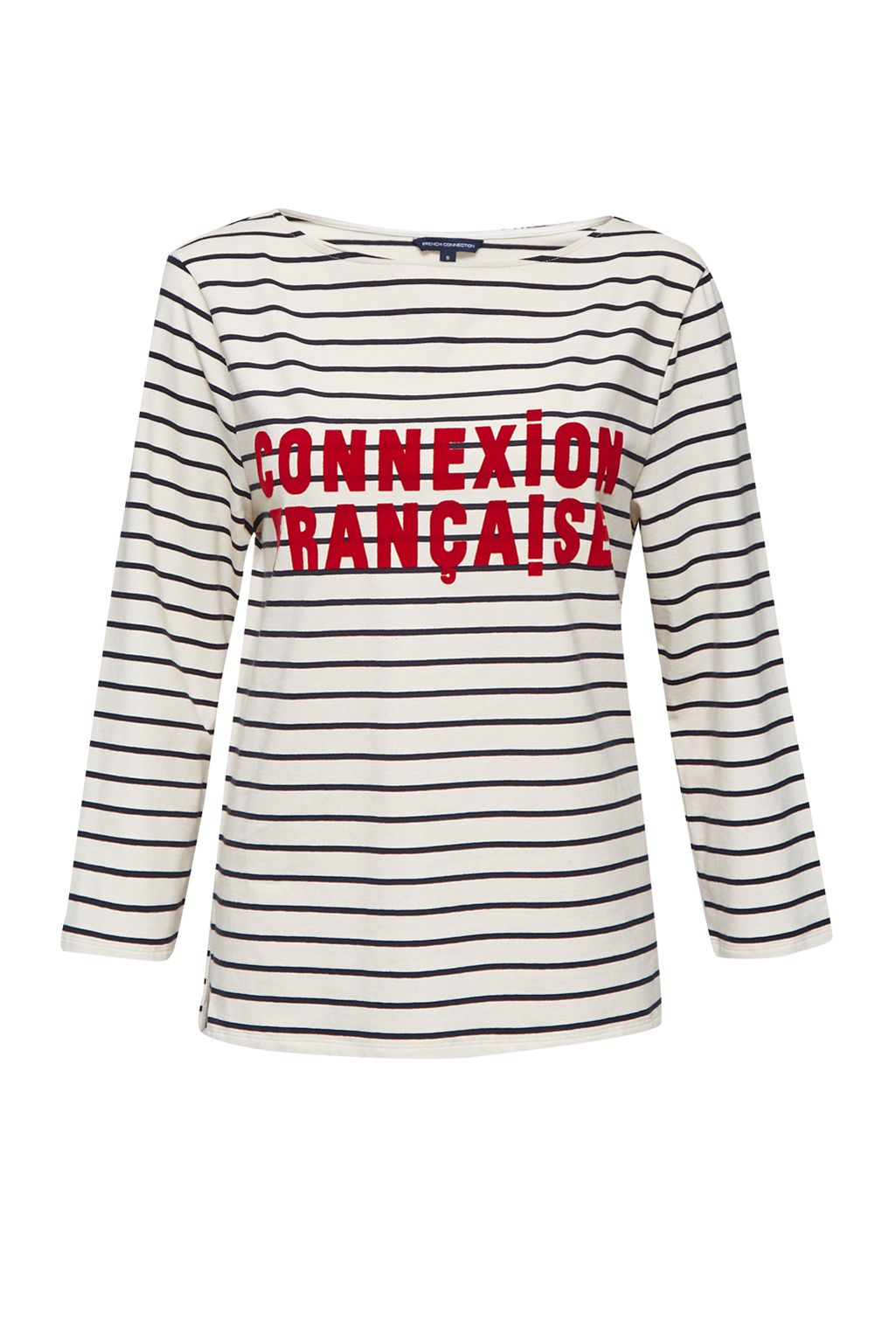 French Connection Connexion Francaise Striped T-shirt, Cream