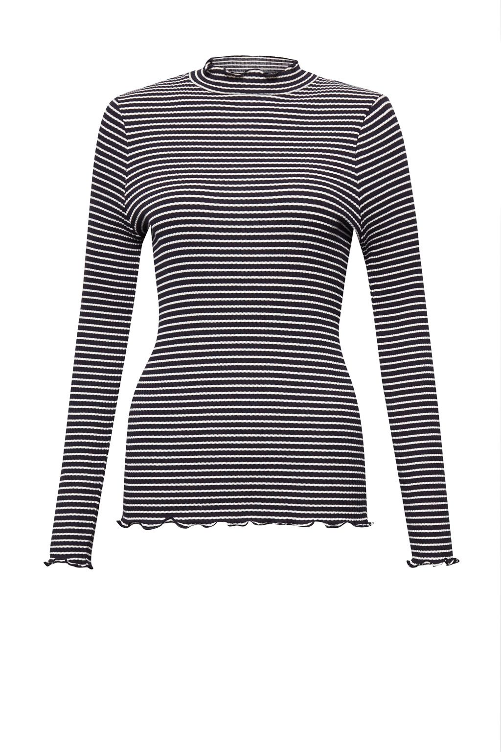 French Connection Tim Tim Ribbed Striped Top, Blue