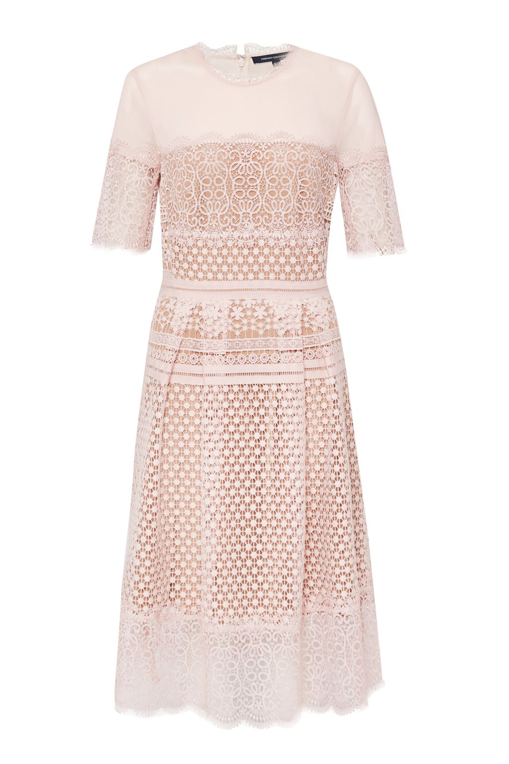 French Connection Anouk Lace Dress, Pink