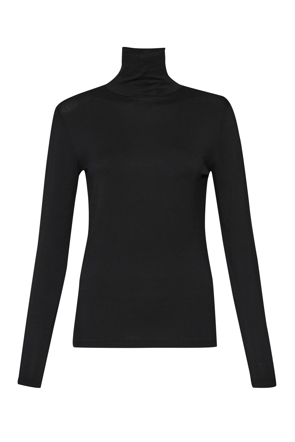 Great Plains Sudbury Stretch Poloneck Top, Black