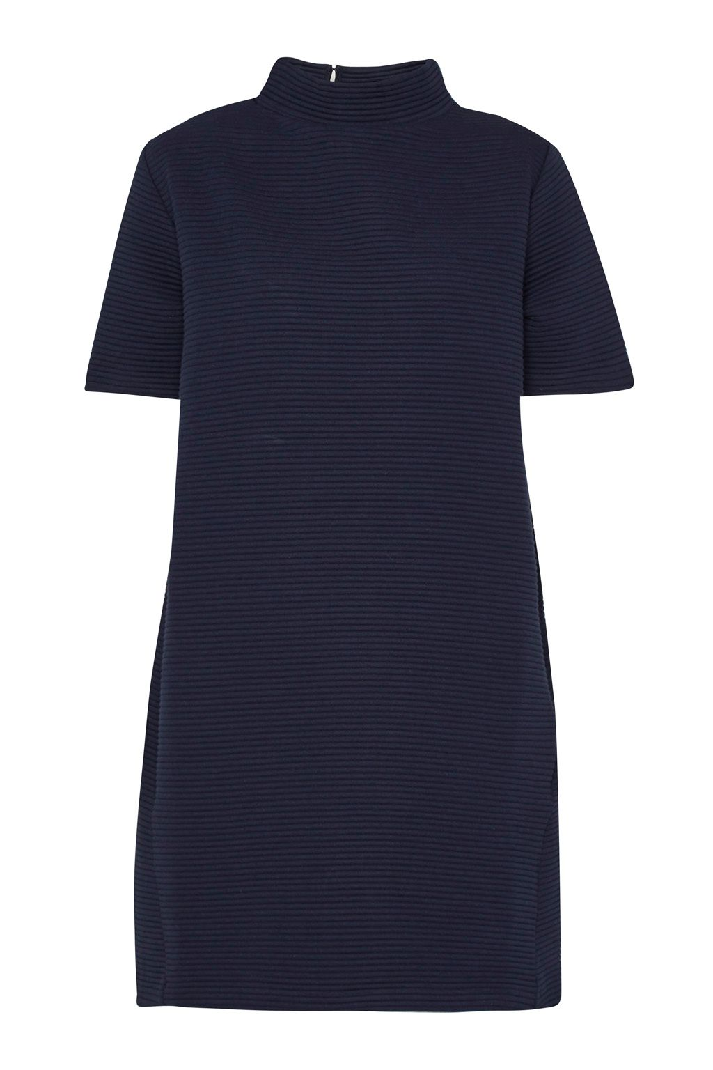 French Connection Marin Ottoman Jersey Dress, Blue