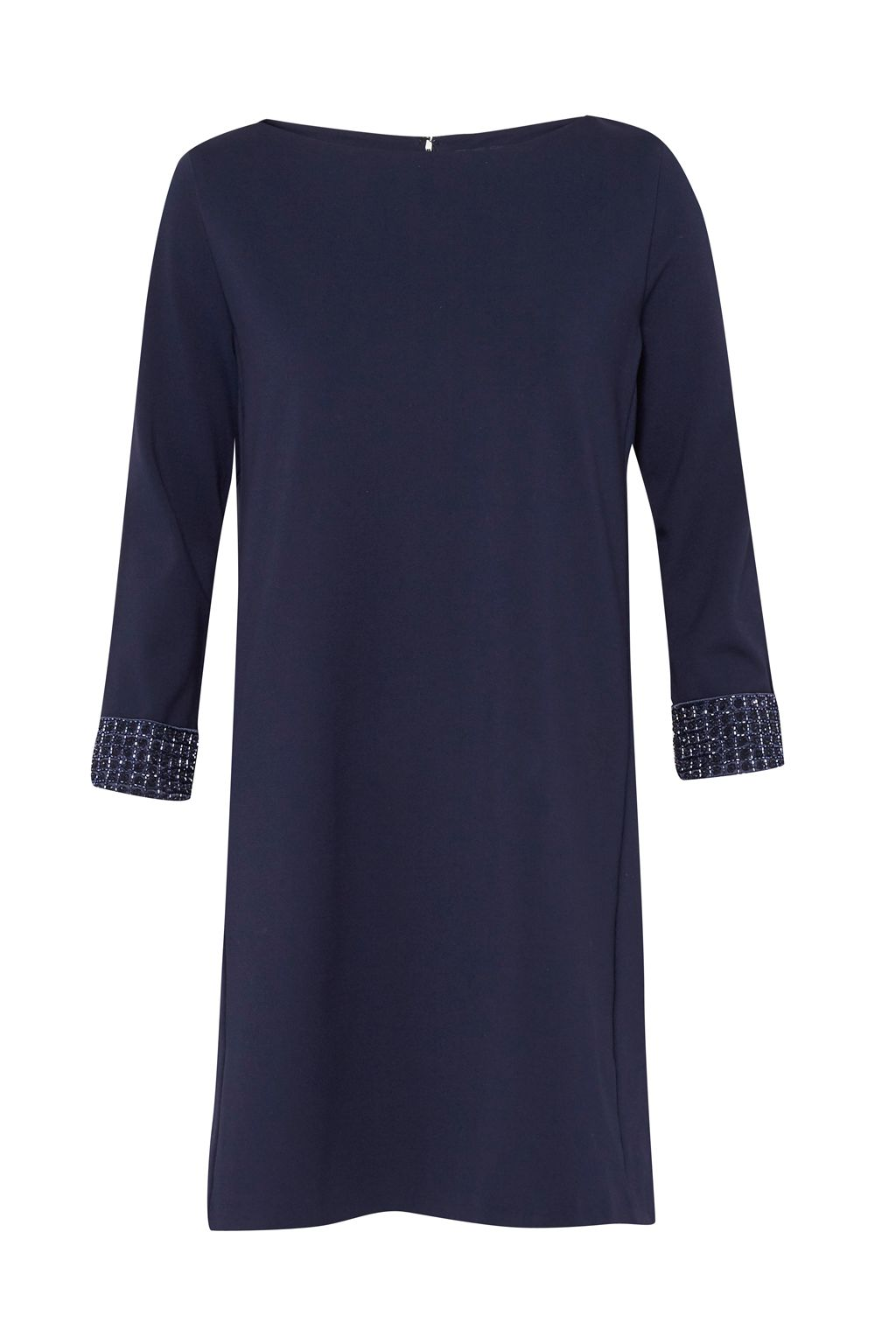 French Connection Crystal Shot Embellished Tunic Dress, Nocturnal