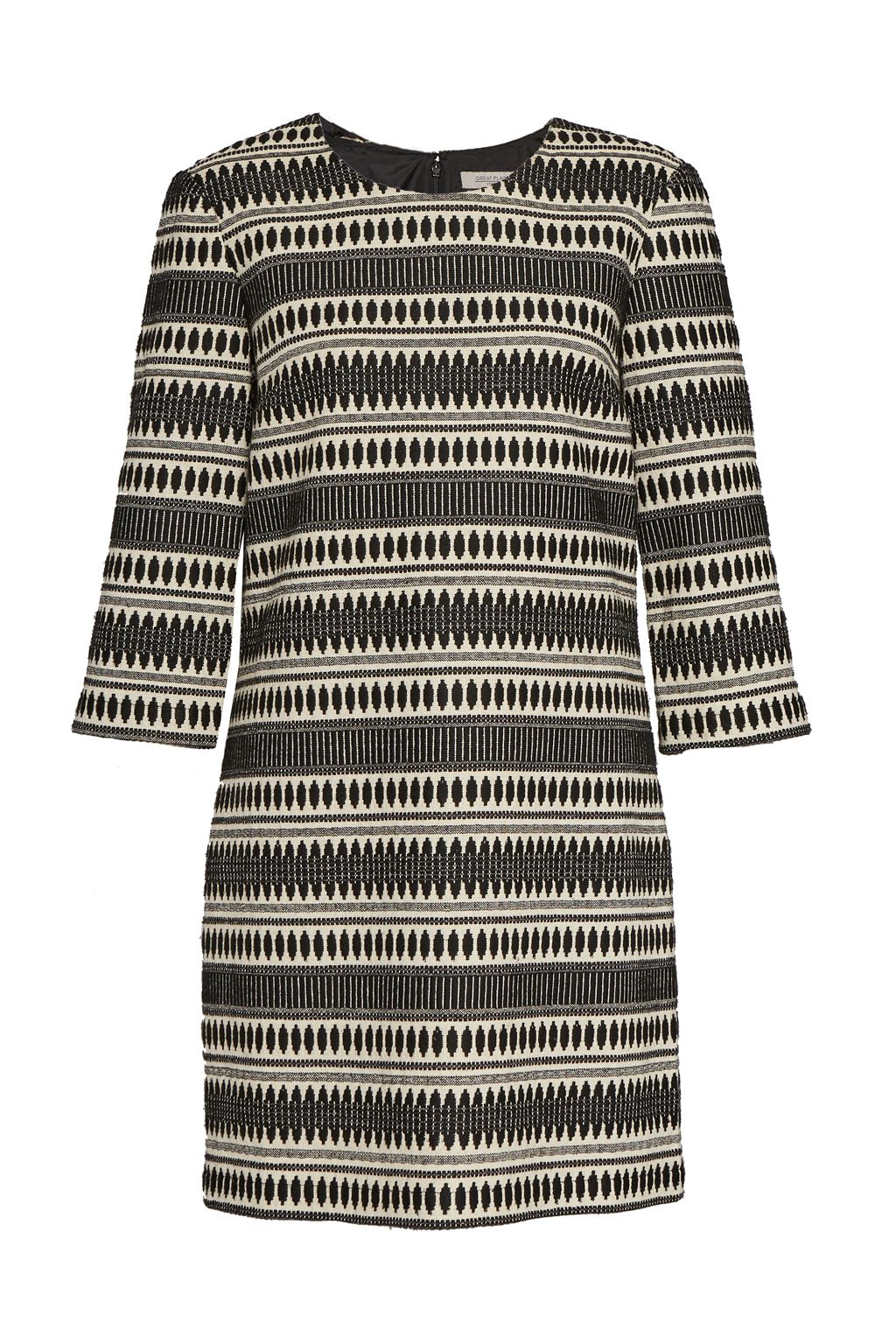 Great Plains Ula Stitch Jacquard Shift Dress, Multi-Coloured