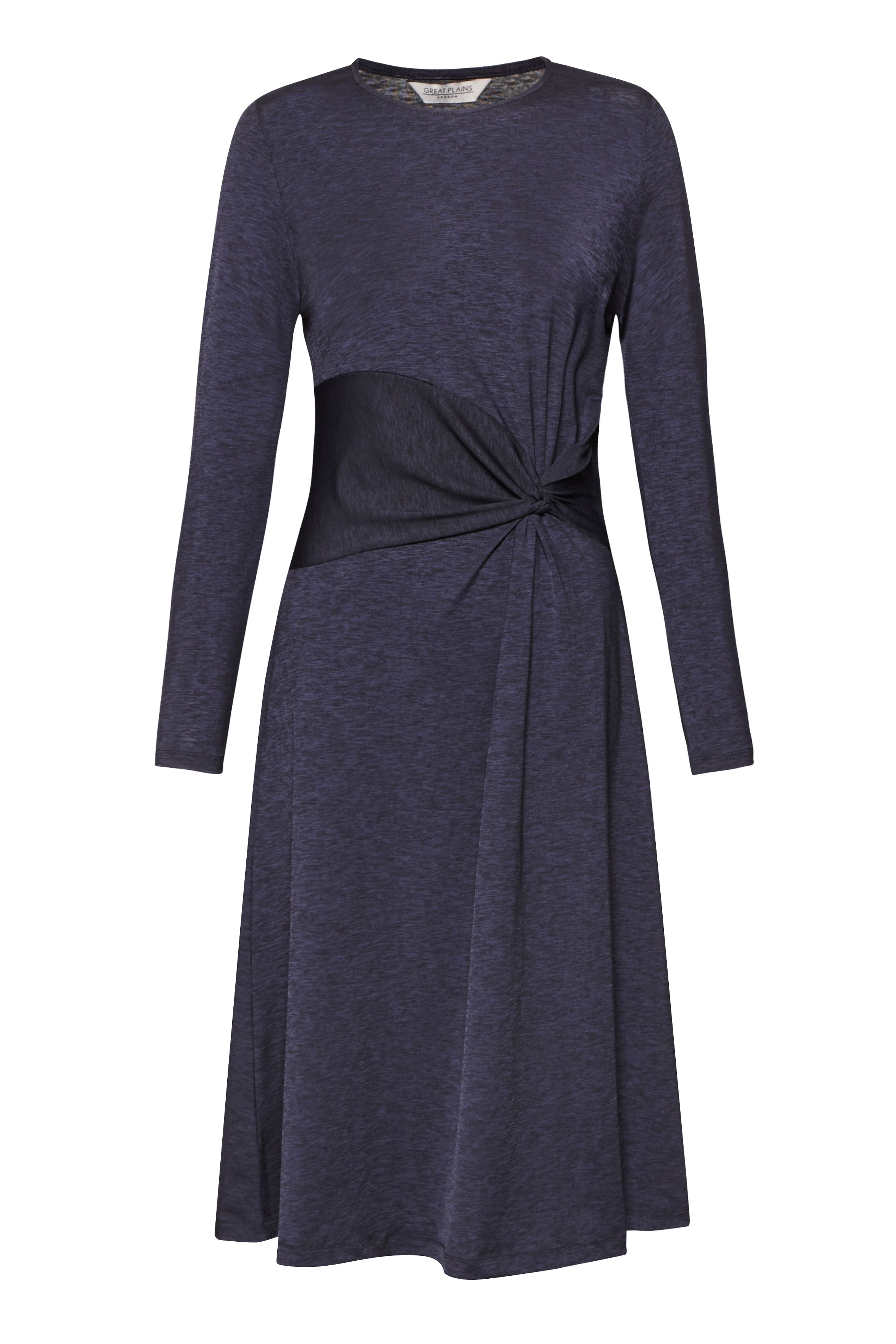 Great Plains Sorrel Side Knot Jersey Dress, Blue