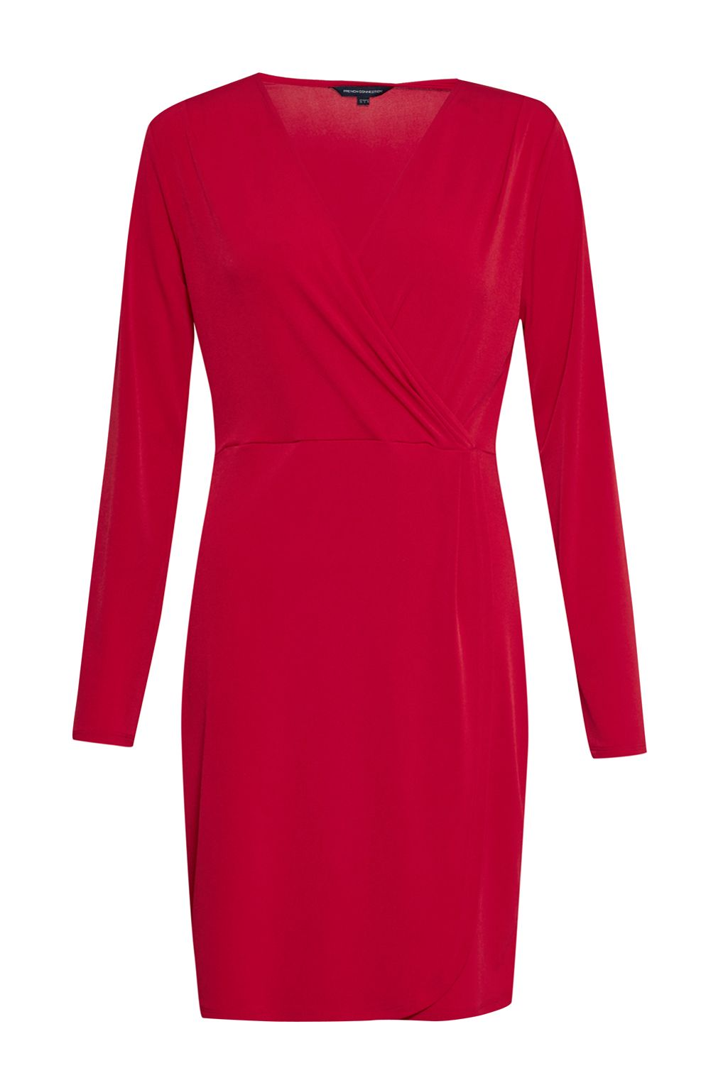 French Connection Slinky Wrap Dress, Red