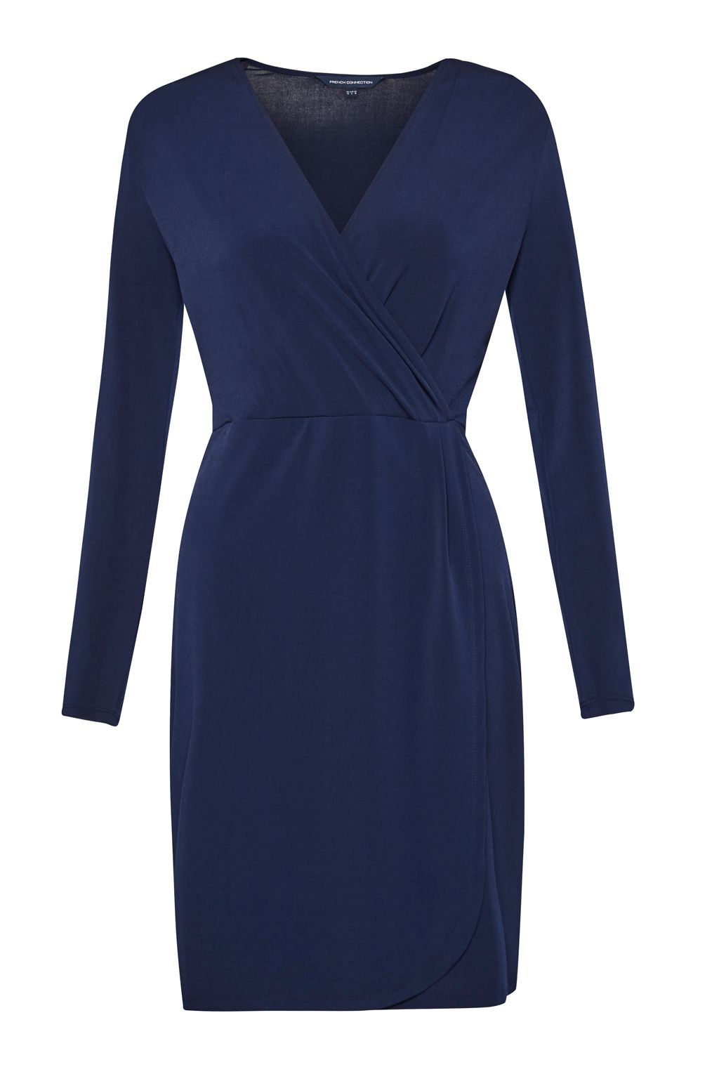 French Connection Slinky Wrap Dress, Blue