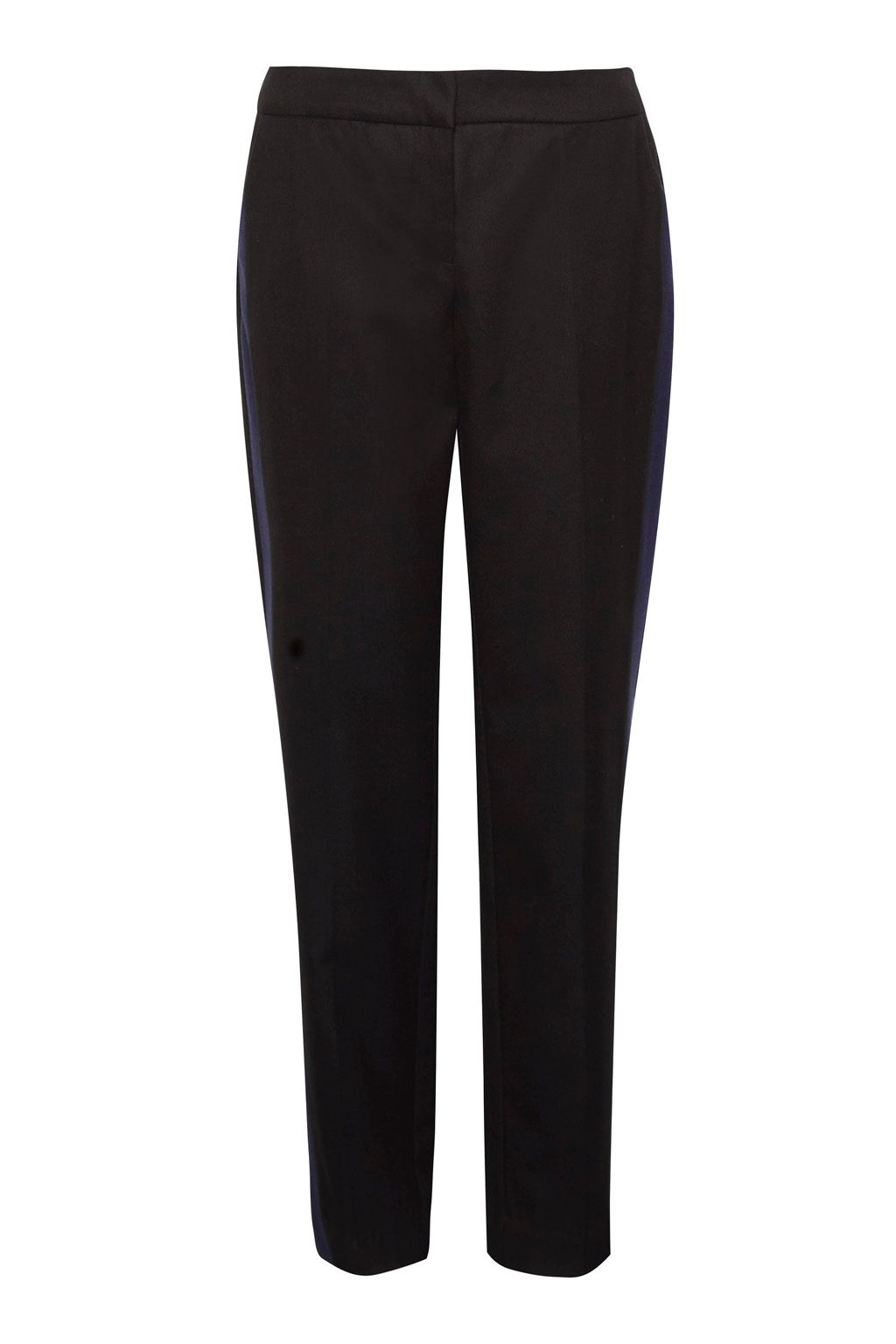 Great Plains Freya Brushed Contrast Leg Trousers, Black