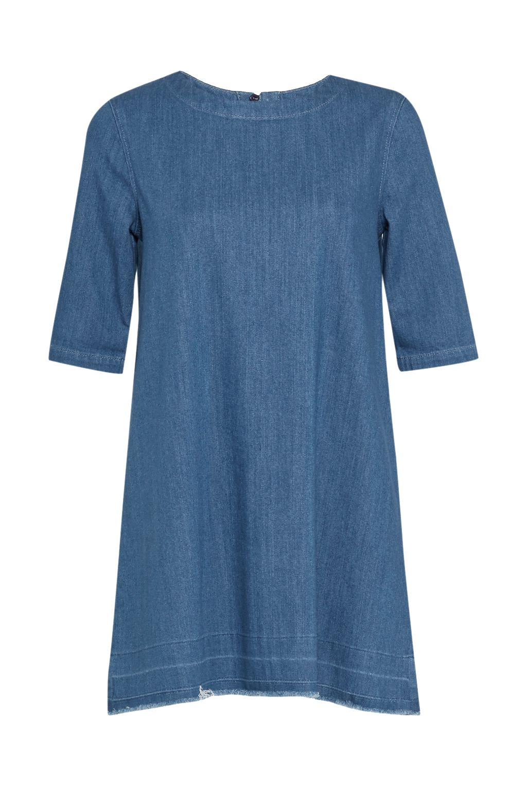 French Connection Evelyn Denim T-Shirt Dress, Blue