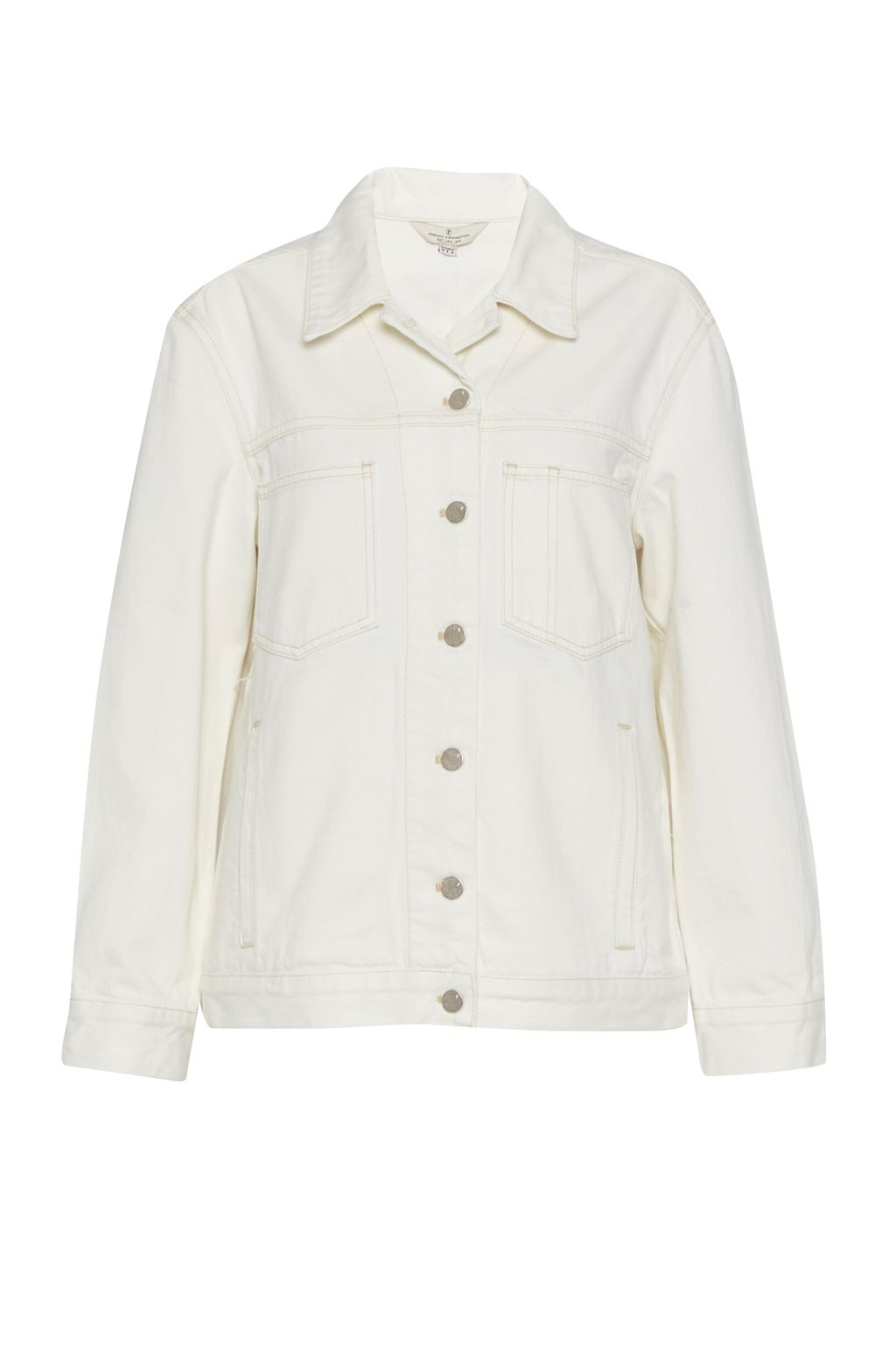 French Connection Perret Utility Denim Jacket, Cream