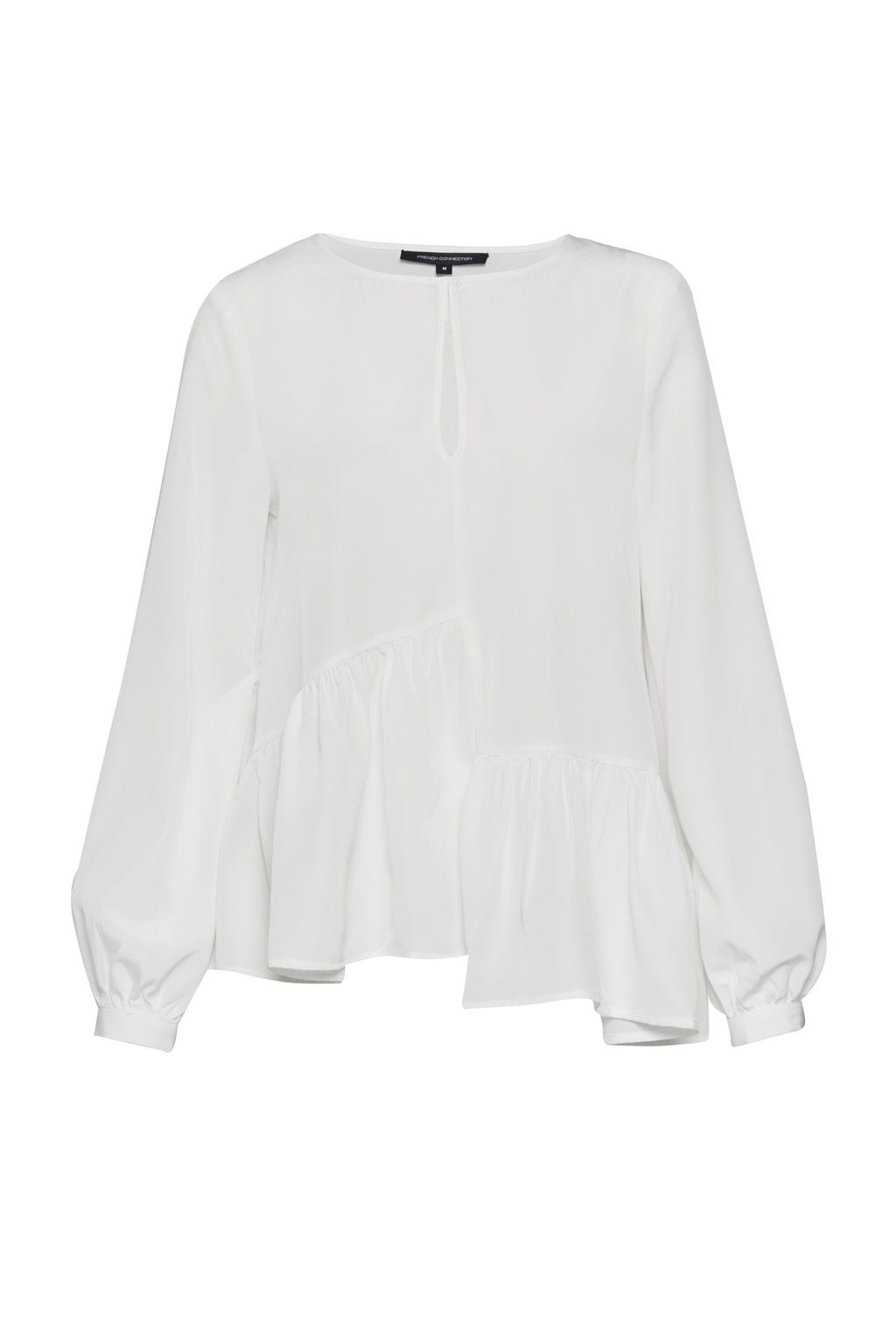 French Connection Lisette Lightweight Crepe Top, Winter White