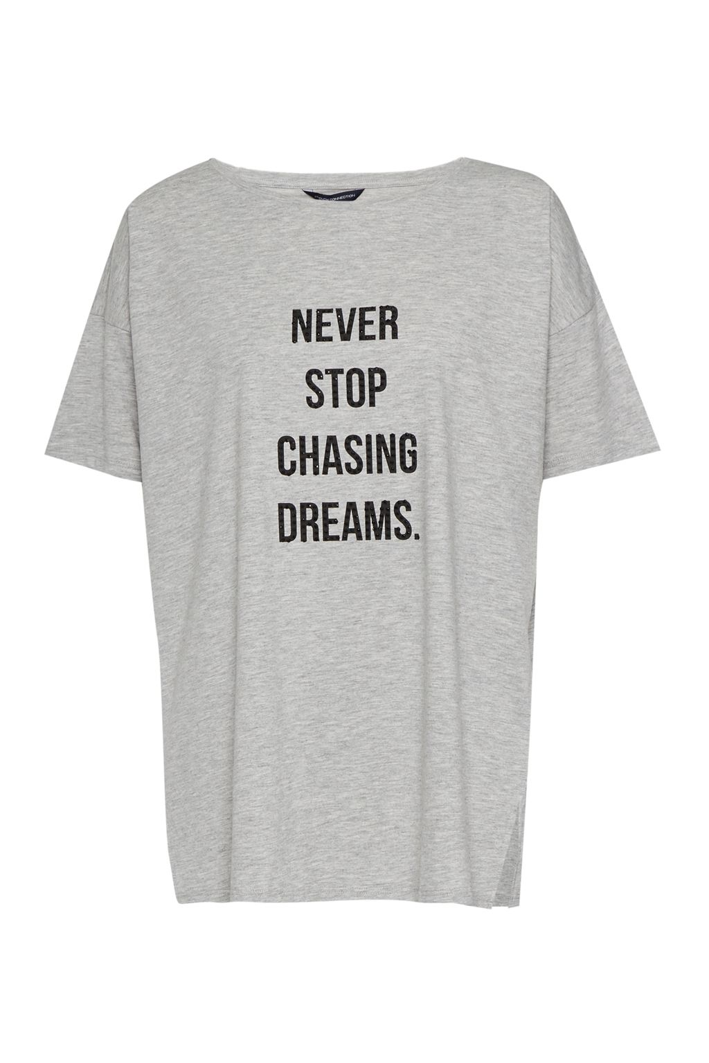French Connection Never Stop Chasing Dreams T-Shirt, Grey