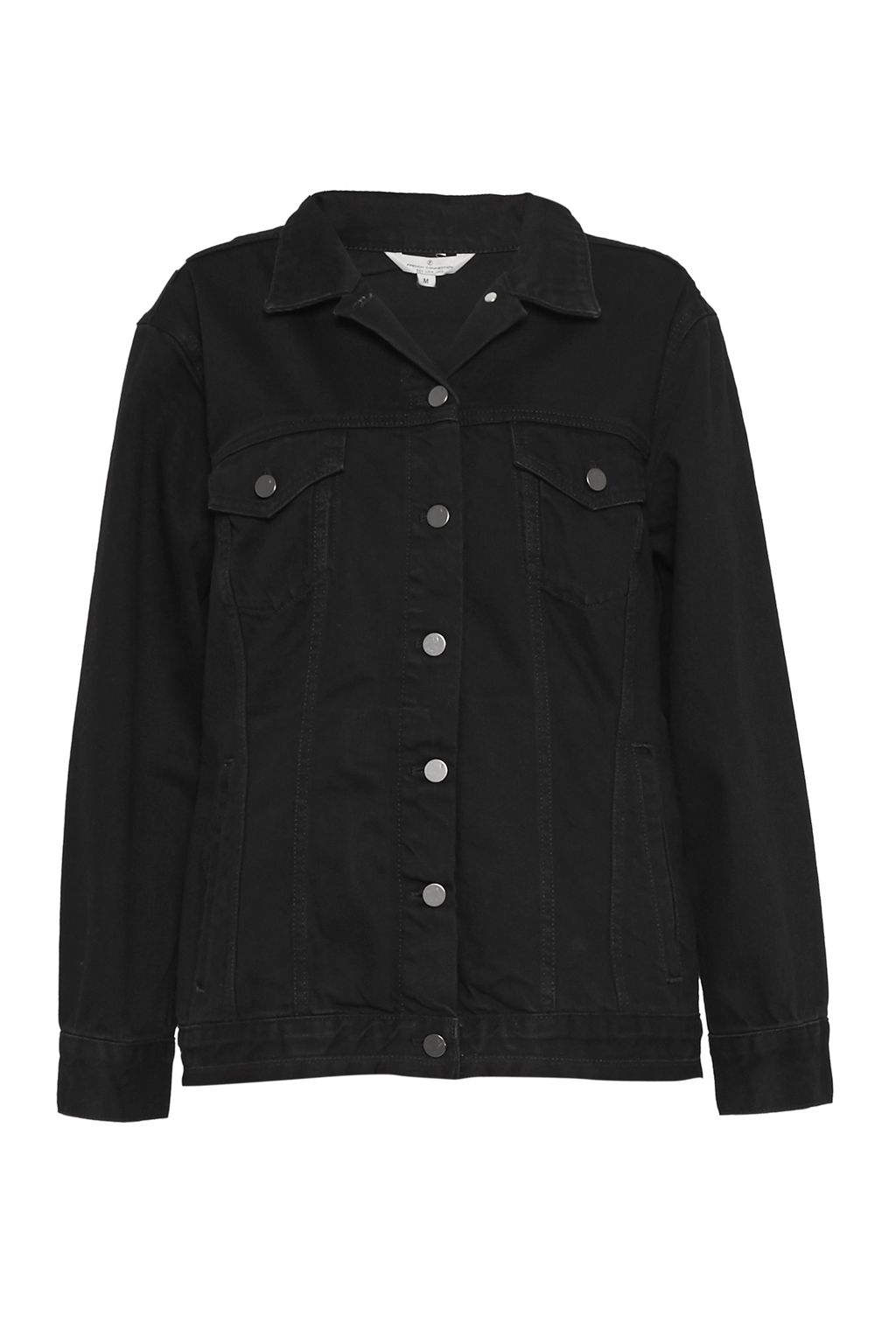 French Connection Slouchy Western Denim Jacket, Black