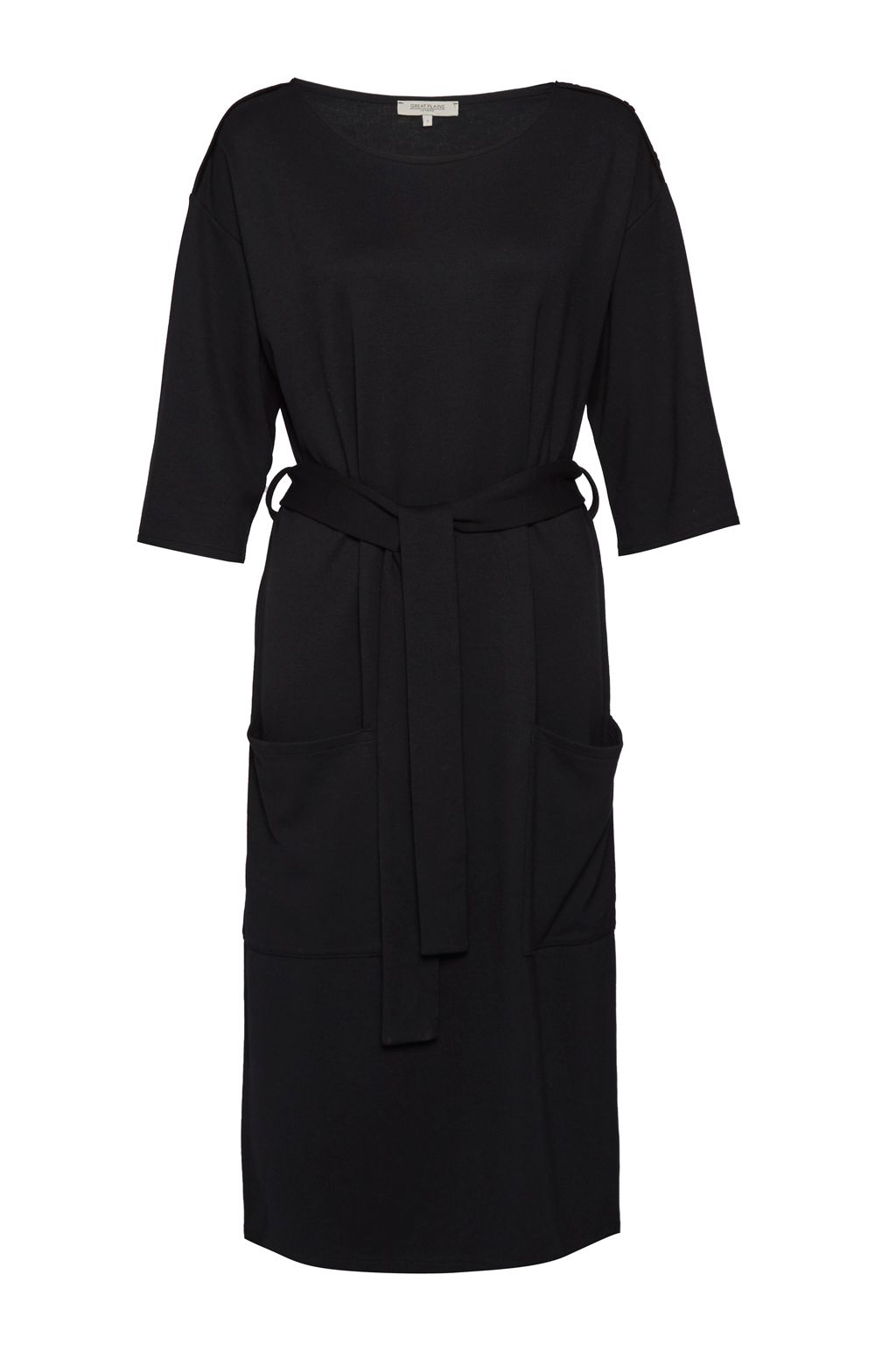Great Plains Kelsey Belted Dress, Black