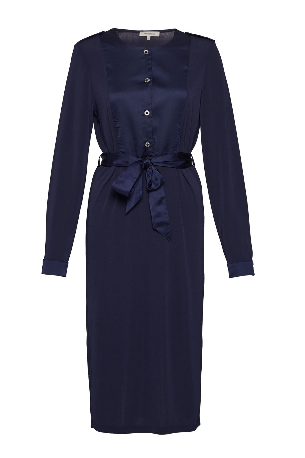 Great Plains Michaella Jersey Belted Dress, Indigo