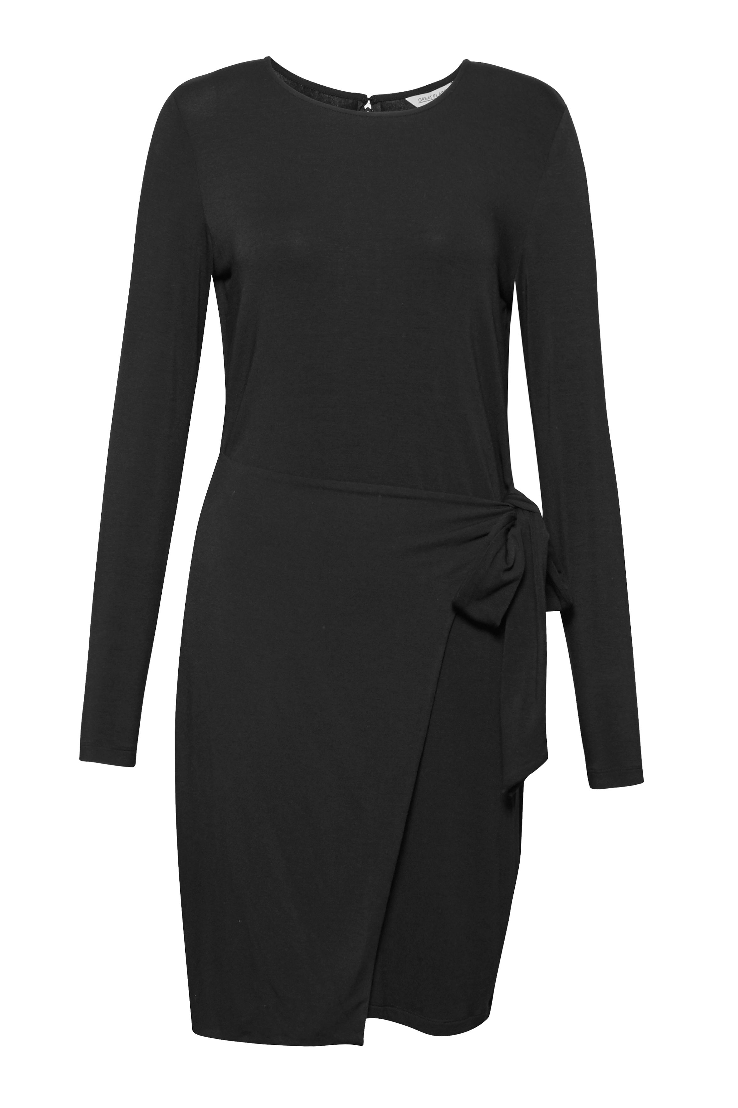 Great Plains Lucky Lycra Side Tie Dress, Black