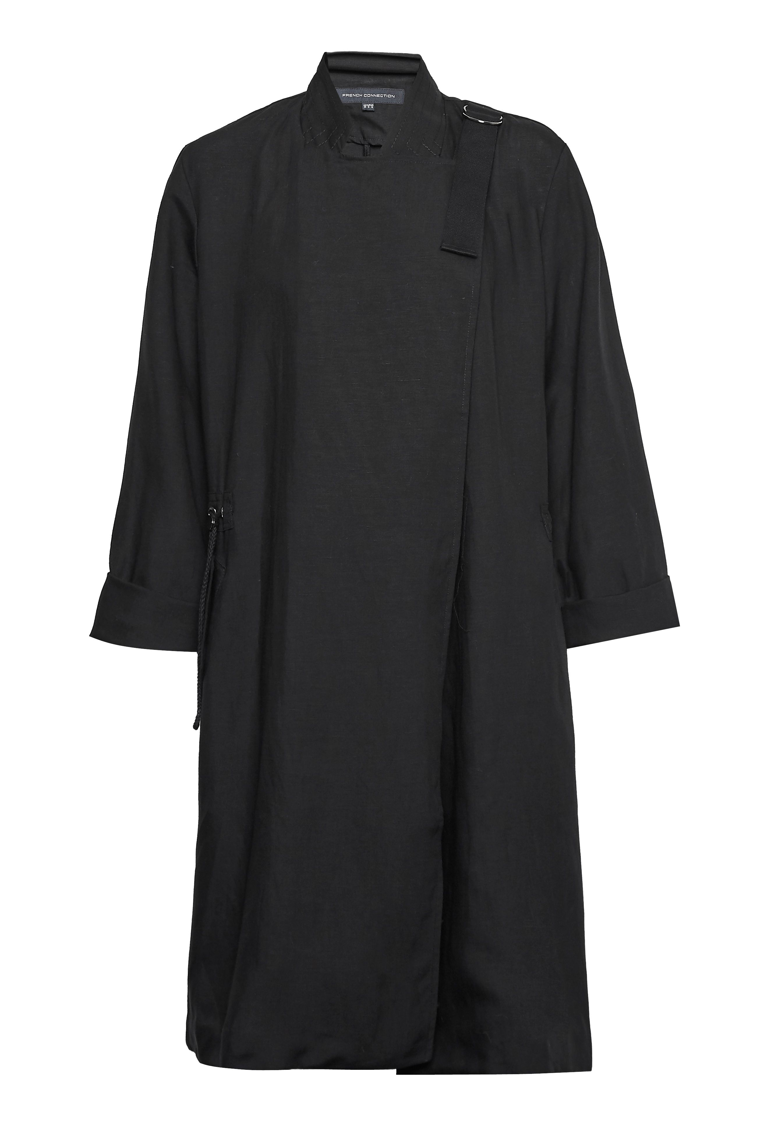 Click to view product details and reviews for French Connection Ellesmere Drape Drawstring Jacket Black.