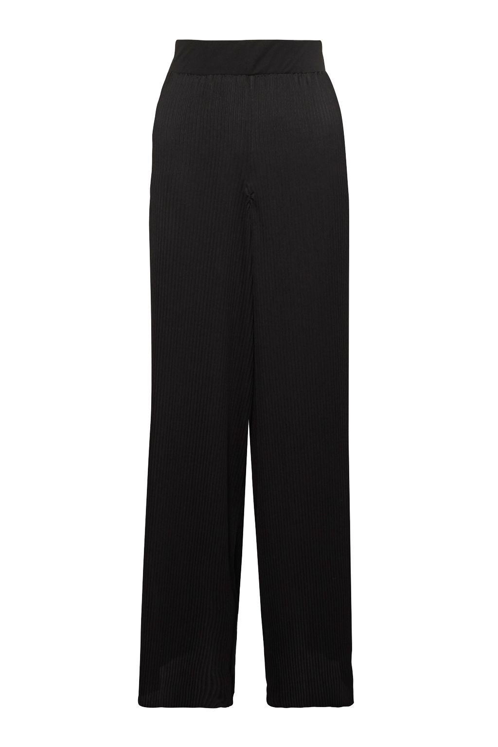 Great Plains Concertina Pleat Trousers, Black