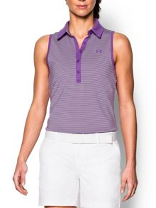 Under Armour Zinger Sleeveless Stripe Polo