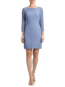 3/4 sleeve lace cocktail dress
