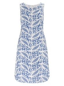Adrianna Papell Lace print shift dress
