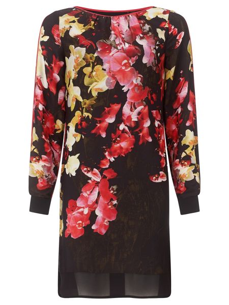 Adrianna Papell Multicoloured Floral Dress