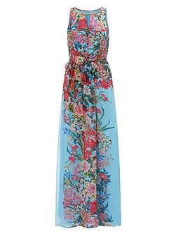 Adrianna Papell Multicolour floral maxi dress