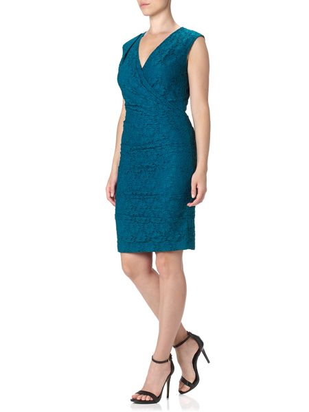 Adrianna Papell Cap sleeve lace dress