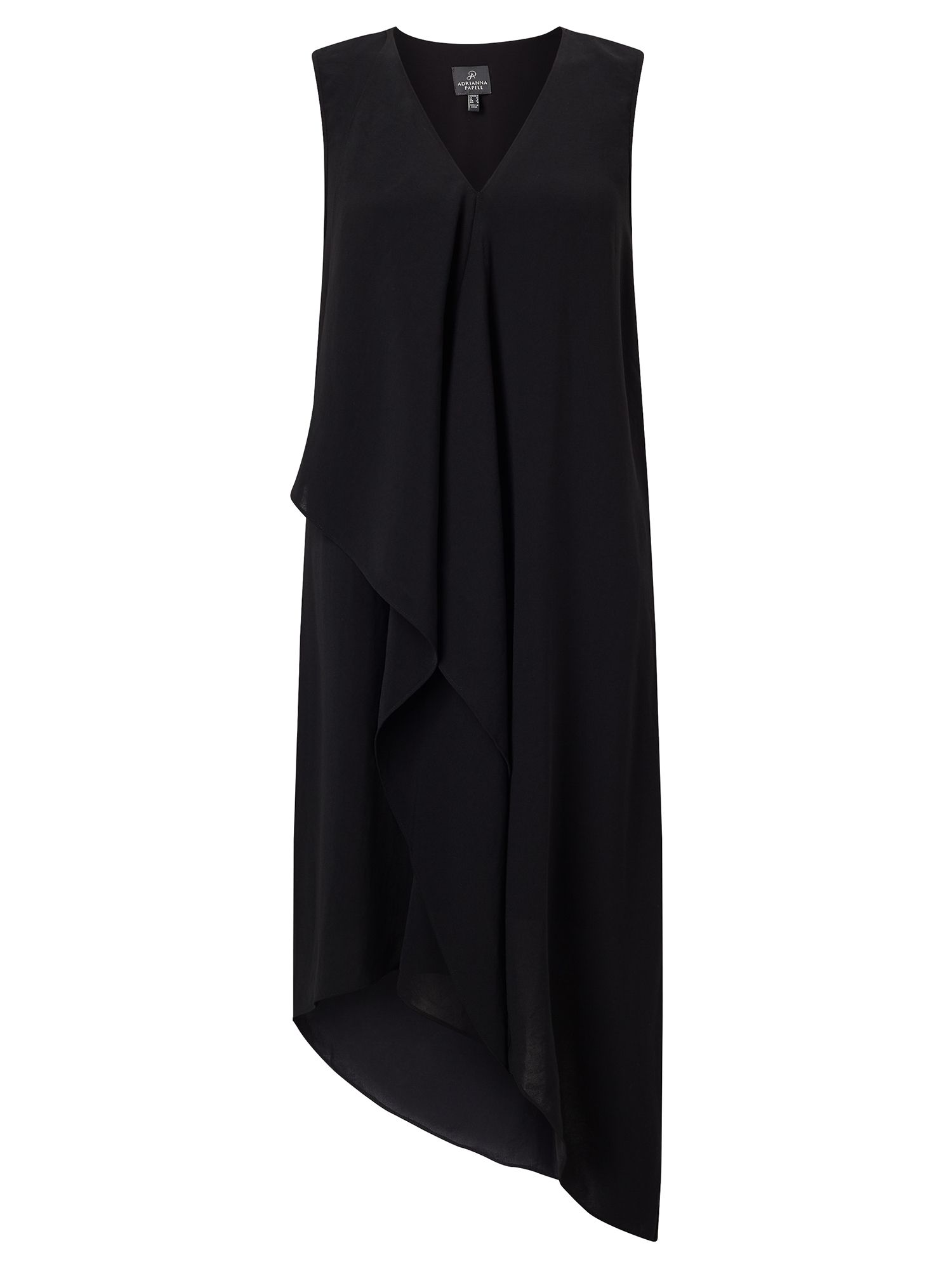 Adrianna Papell Asymmetric drape dress Black