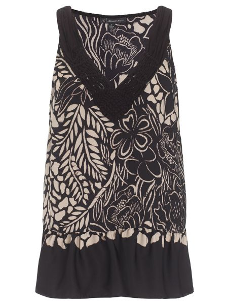 Adrianna Papell Floral Tank Top