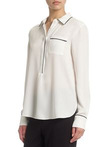 Adrianna Papell Pocket blouse