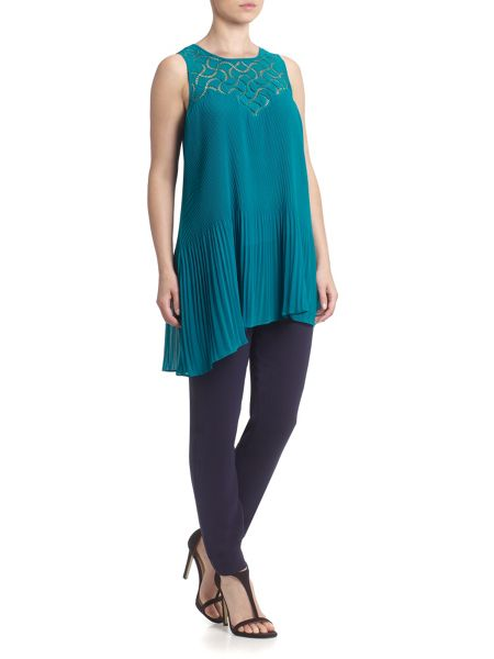 Adrianna Papell Sleeveless asymmetric top