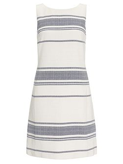 Tweed stripe dress