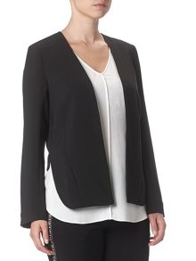 Adrianna Papell Long Sleeve High Low Jacket