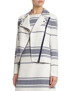 Adrianna Papell Tweed stripe jacket