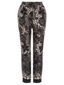 Adrianna Papell Floral tapered trousers