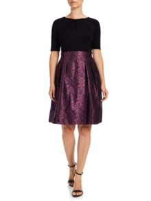 Adrianna Papell Sleeve fit and flare dress