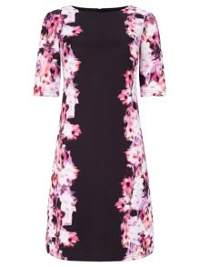 Adrianna Papell Floral A-line scuba dress