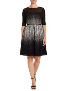 Adrianna Papell Print fit and flare dress