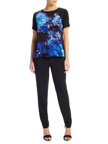 Adrianna Papell Short sleeve floral top