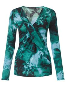 Adrianna Papell Printed leaf top