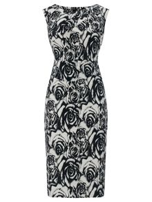 Adrianna Papell Floral jacquard dress