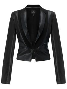 Adrianna Papell Faux leather jacket