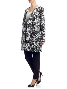 Adrianna Papell Floral jacquard coat