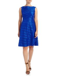 Adrianna Papell Shimmer panel cocktail dress