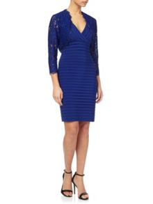 Adrianna Papell Dress and lace jacket set